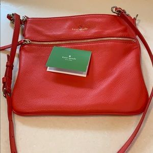 Kate Spade crossbody tangerine orange bag